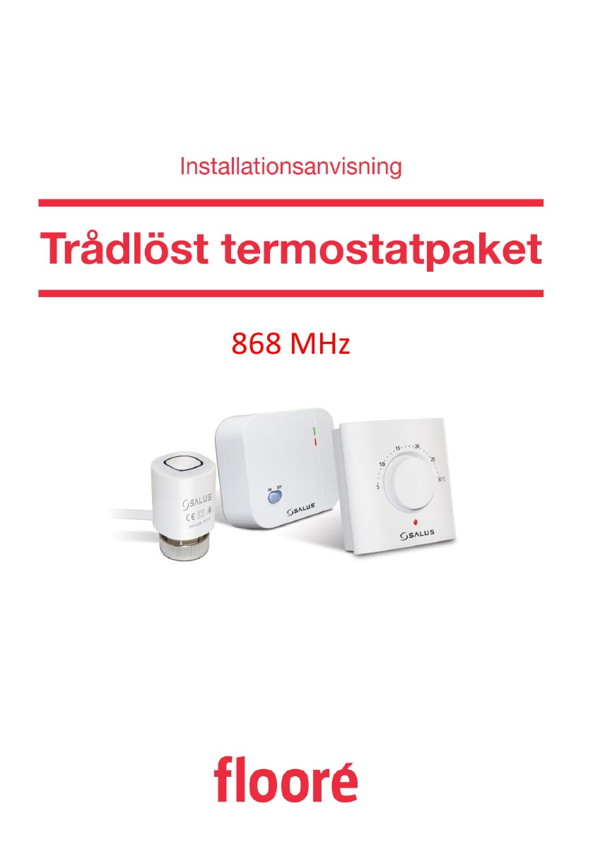 Installationsanvisning Trådlöst Termostatpaket 412 79