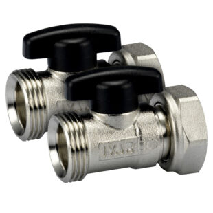 Shut-off valves for closing the inflow and return