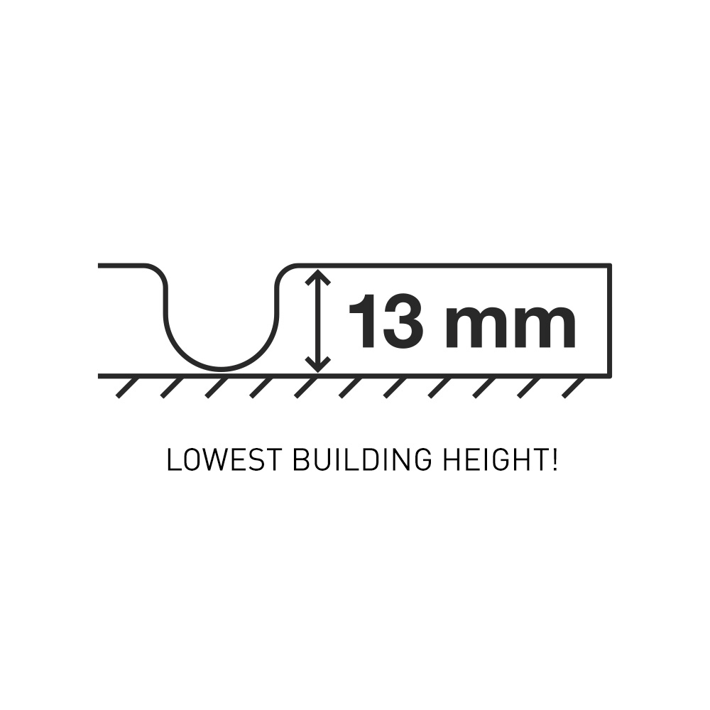 Flooré skiva 13 mm – för lägsta bygghöjd