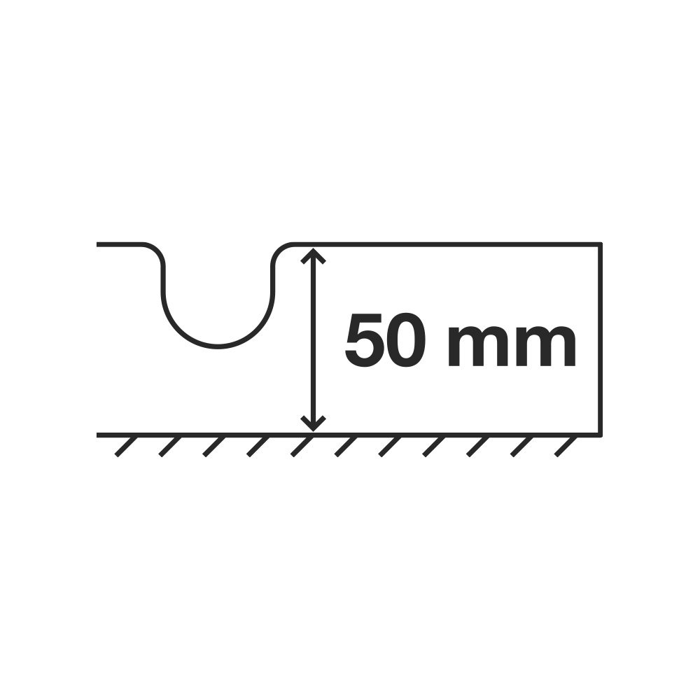 Flooré skiva 50 mm – med extra isolering