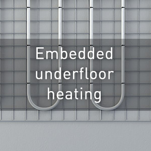 Embedded underfloor heating
