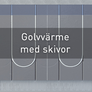 Vattenburen golvvärme med skivor per kvm