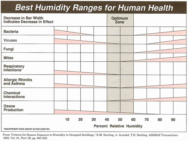 Best Humidity Ranges for Human Health