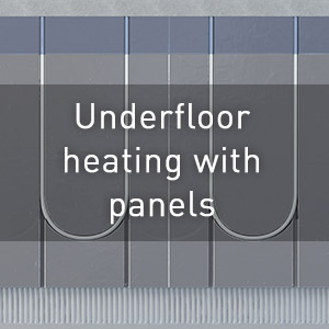 Underfloor heating with panels